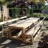 Sweet chestnut table and benches 3x12ft.