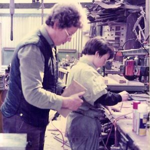Nick and Ned Hamond in the old workshop