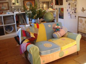 Battenberg cake sofa, Christmas 2014
