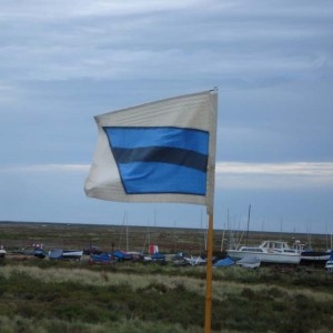 Bluejacket flag over Morston Quay